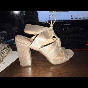 Sparkly chunky heels